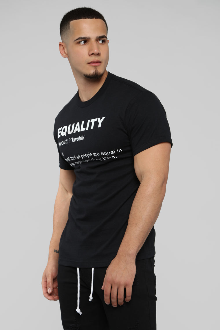 Equal Short Sleeve Tee - Black/White