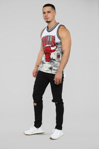 Bulls Denim Jersey - White