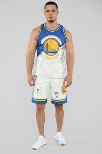 Warriors Denim Jersey - White