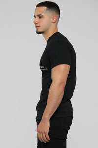 High Class Short Sleeve Tee - Black/White