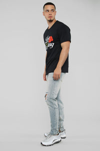Love Is My Drug Short Sleeve Tee - Black