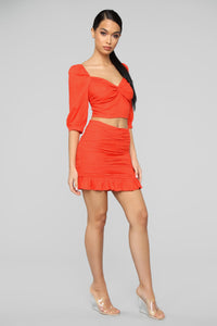Day Dreamer Skirt Set - Orange