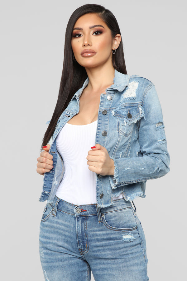 9502e9cda Bad Girl Good Vibes Denim Jacket - Light Wash