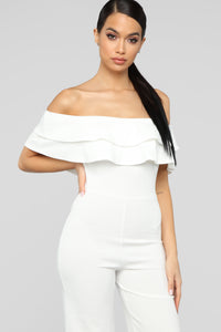 Ready To Ruffle Jumpsuit - Ivory