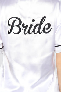 Bride PJ Set - White/Black