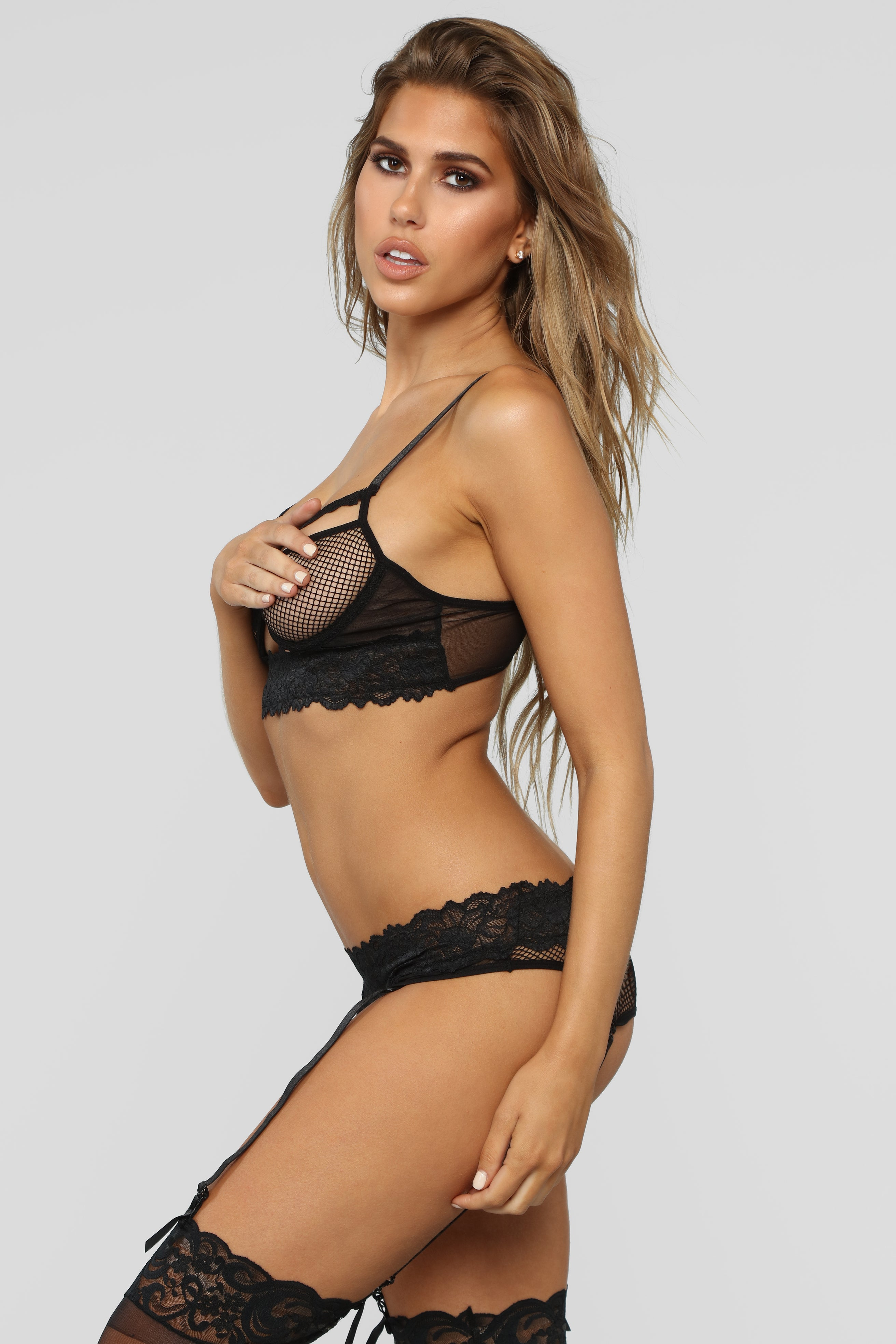 5218e5888fc All Caught Up Bra   Panty Set - Black