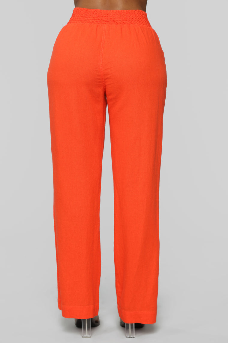 Cool Breeze Flare Pants - Orange