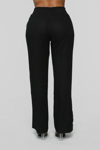 Cool Breeze Flare Pants - Black