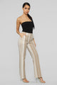 Striping Out Flare Pants - Sand/ivory