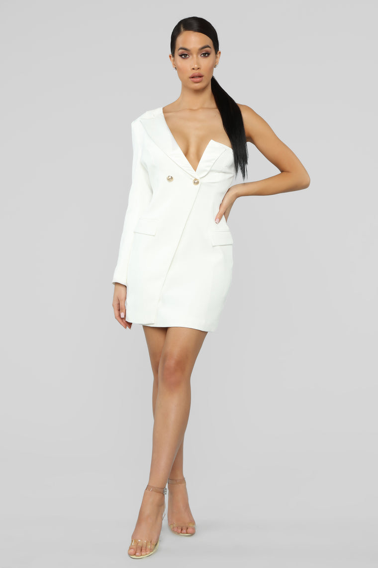 Feeling Close To You Off Should Mini Dress - Ivory