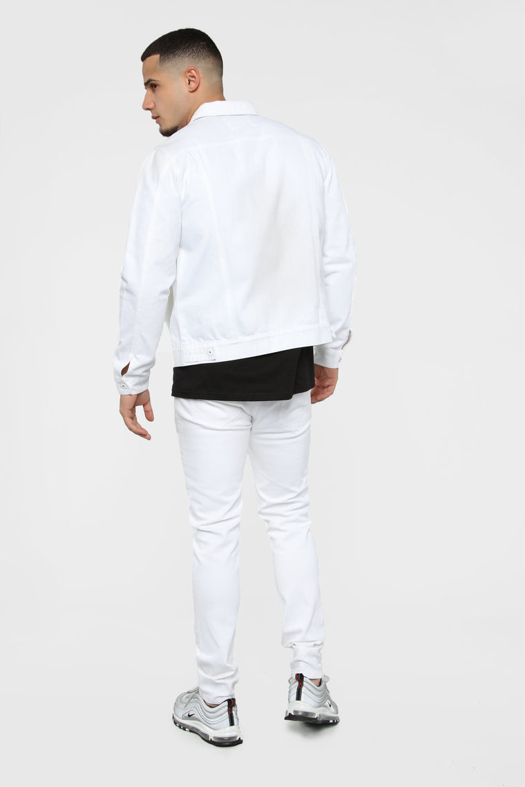 Hayes Denim Jacket - White