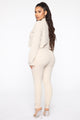 Kara Ribbed Lounge Set - Cream