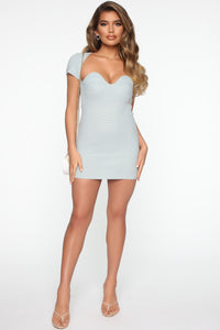 Leihla Sweater Dress - Blue Angle 2