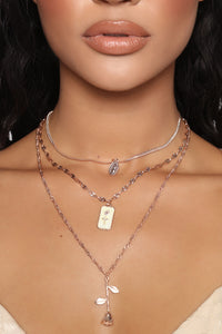 Catch Feels Layered Necklace - RoseGold Angle 2