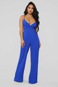 Bright Mind Tie Back Jumpsuit - Royal Angle 2