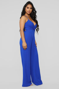 Bright Mind Tie Back Jumpsuit - Royal Angle 4