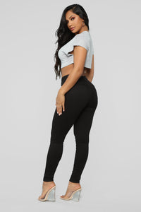 Deeann Skinny 5 Pocket Pants - Black Angle 5