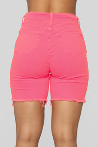 Gone Fishing Shorts - Neon Pink