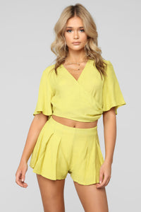 Lighthearted Short Set - Lime