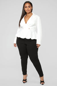 Can't Handle Me Blazer - Ivory