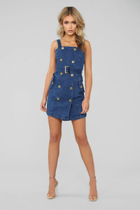 Down The Highway Denim Dress - Medium Wash