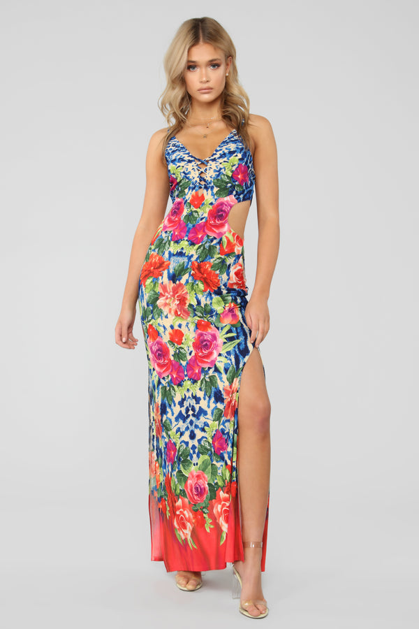 7e7cbdcdd00 Caribbean Love Affair Maxi Dress - Royal Combo