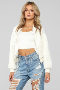 Like None Other Bomber Jacket - White