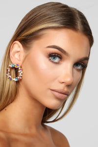 All The Hoopla Hoop Earrings - Multi