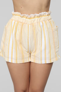 Warmer Days Suit Set - Yellow/White