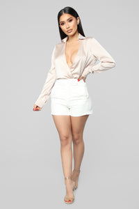 Bad Girl, Good Vibes Shorts - Ivory