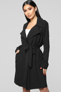 Walks In The Park Trench Coat - Black
