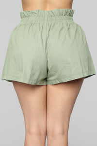 Still Workin' Short Set - Olive