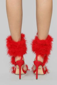 Keep On Dreaming Heeled Sandals - Red