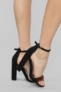 Give and Take Heeled Sandals - Black