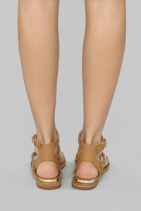 Underlying Meaning Flat Sandals - Camel