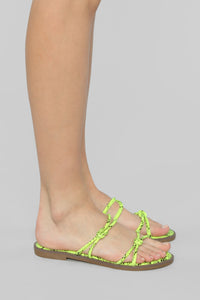 So Electric Flat Sandal - Lime