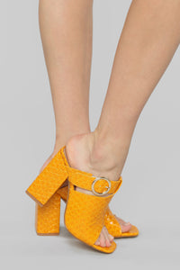 Try Again Heeled Sandal - Mustard Angle 1
