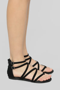 But Seriously No Flat Sandals - Black