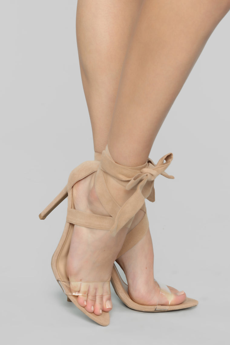 Toxic Love Heeled Sandals - Taupe