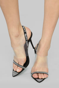 Curving You Heeled Sandals - Black