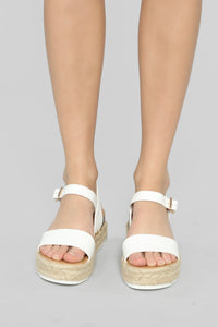 Ready Or Not Sandals - White