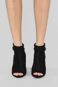Loud And Clear Booties - Black
