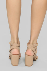 Missing You Heeled Sandals - Tan