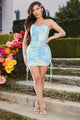 Illuminating Tie Dye Mini Dress - Blue/combo