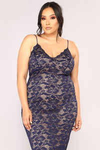 All About Me Midi Dress - Navy Angle 7