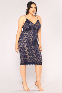 All About Me Midi Dress - Navy Angle 8