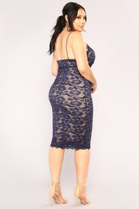 All About Me Midi Dress - Navy Angle 9