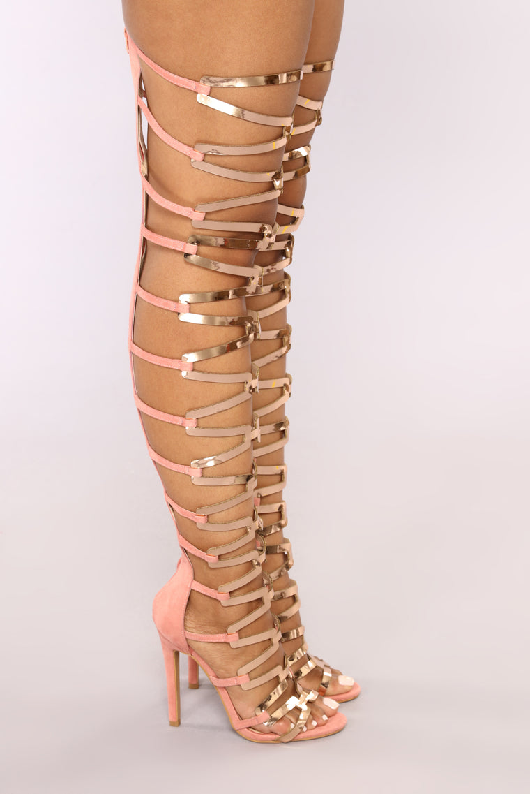 The Business Heeled Sandal - Blush/Rose Gold