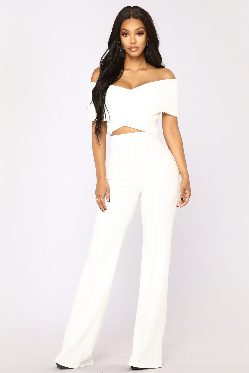 So Empowered Off Shoulder Top - White