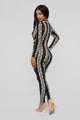 Nenette Collared Jumpsuit - Black/Taupe
